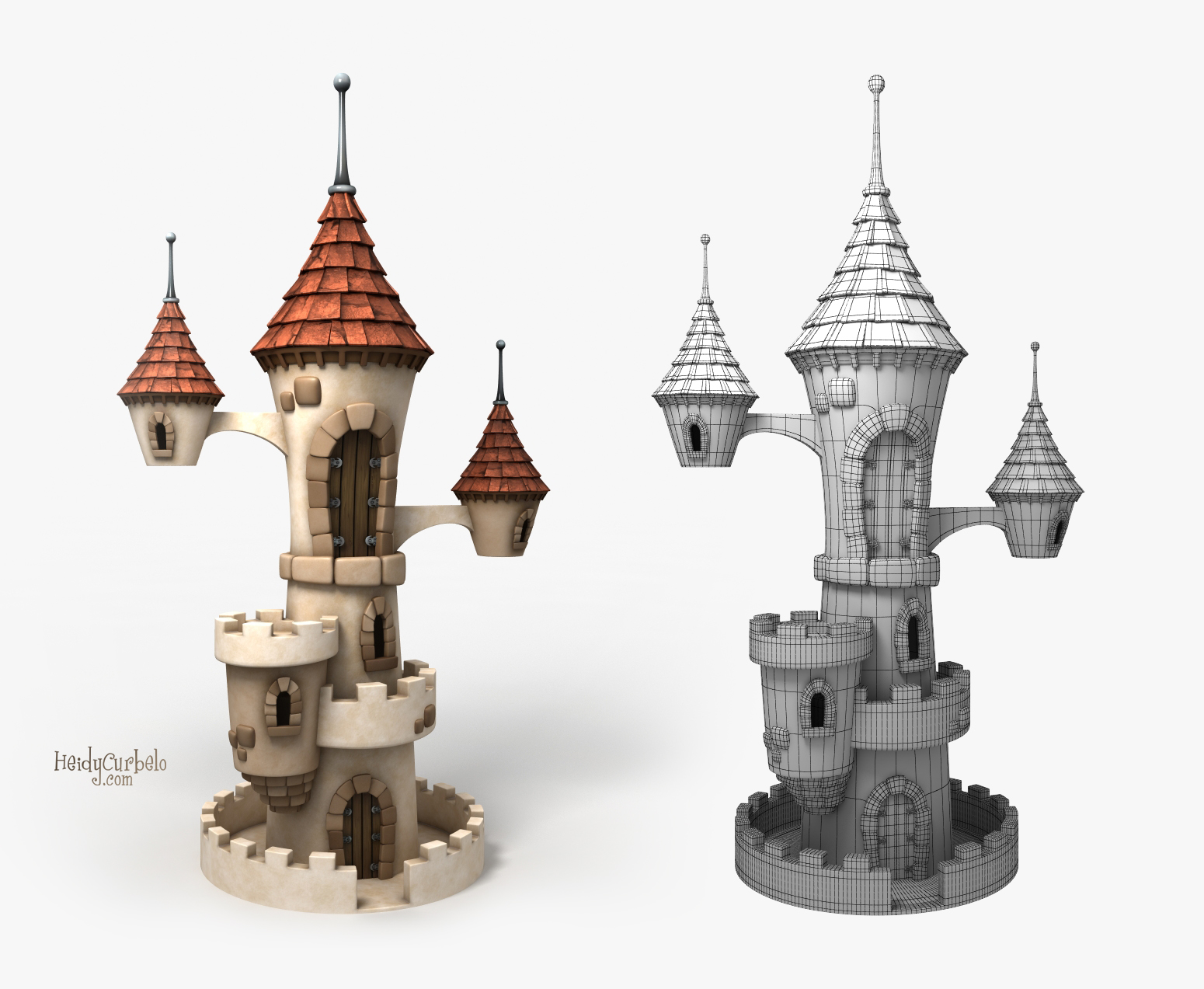 Cartoon Castle for Pinterest
